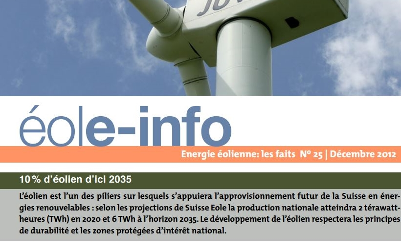 Couverture du Eole-info du 25.12.12